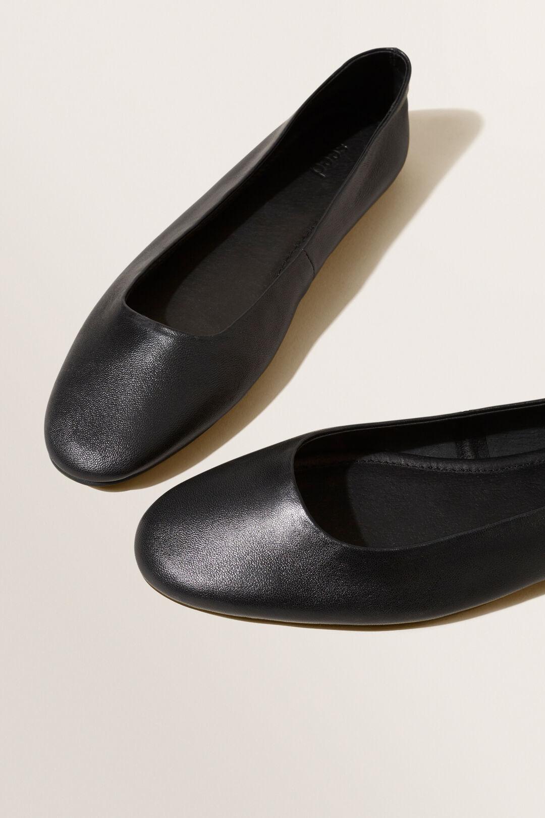 Square Toe Flat  BLACK  hi-res