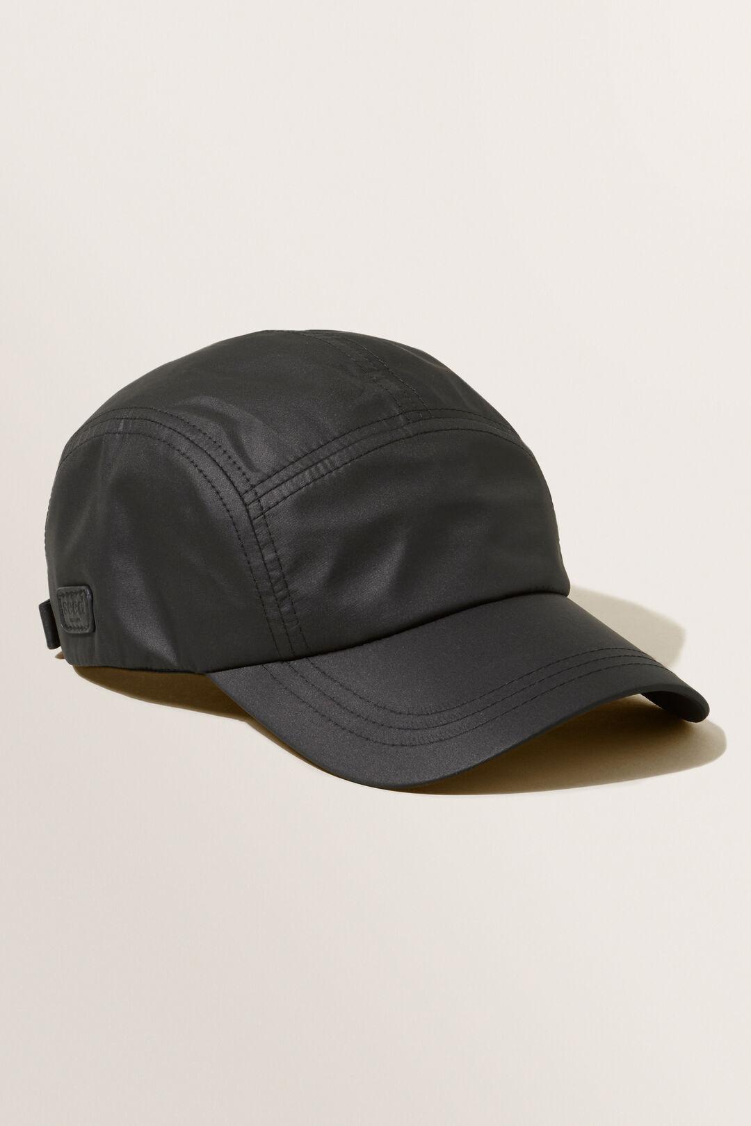 Quilted Cap  BLACK  hi-res