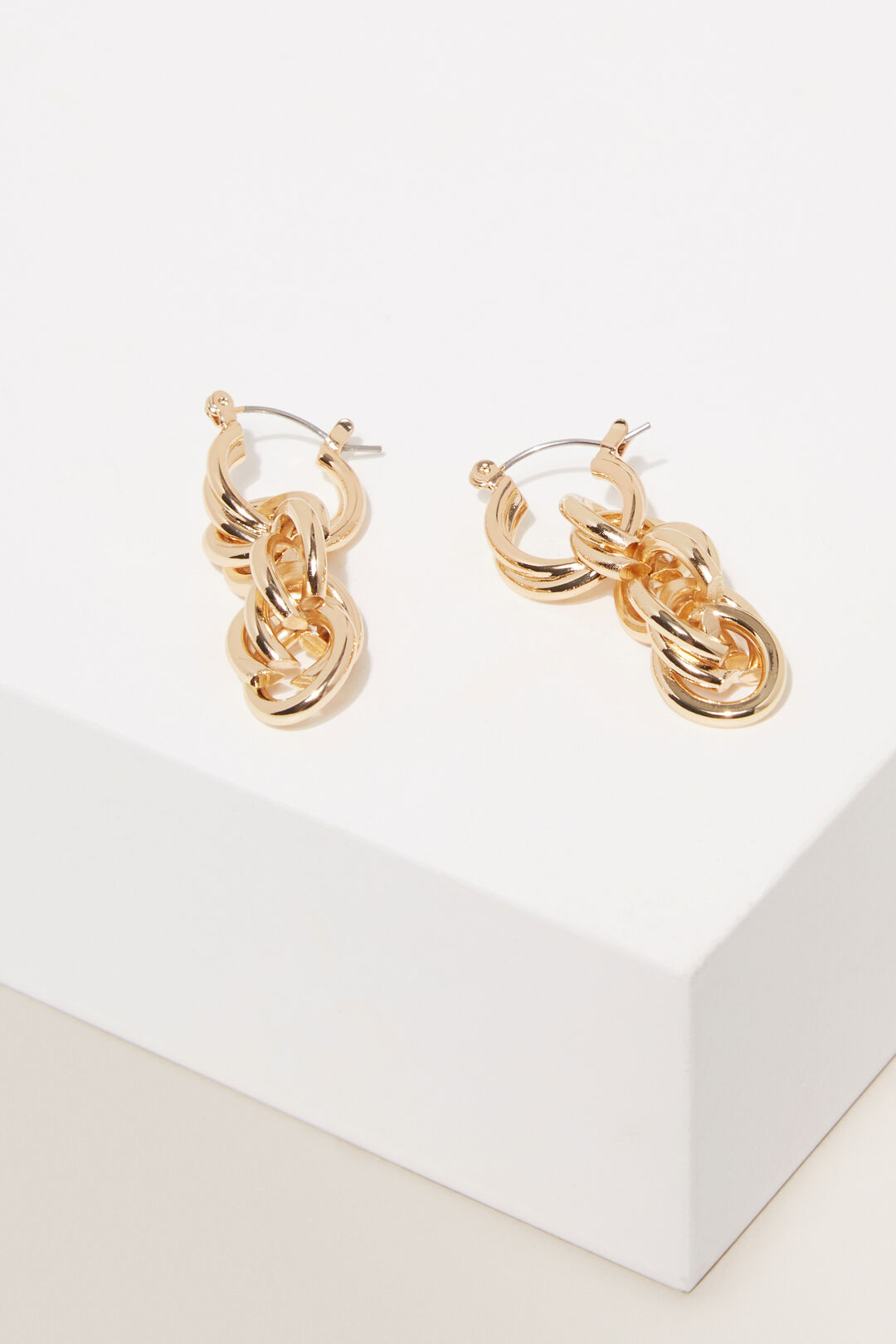 Rope Chain Drop Earring  GOLD  hi-res