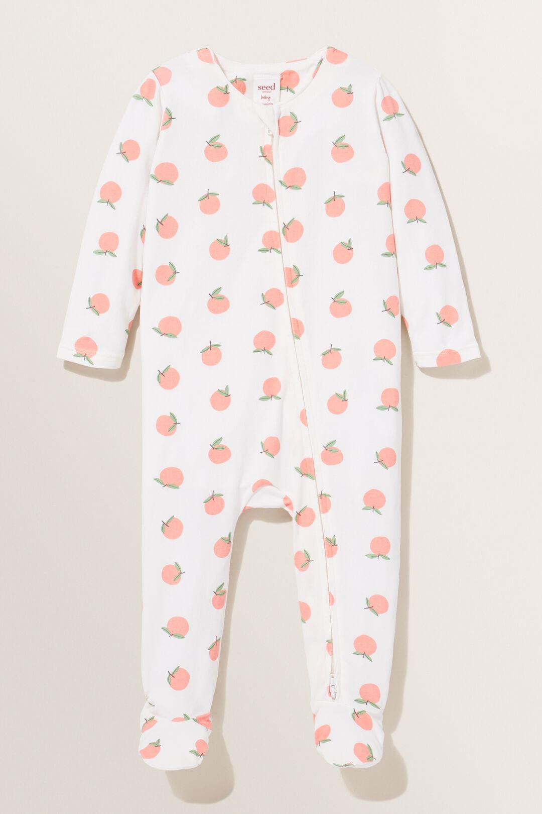Peach Zipsuit  CANVAS  hi-res