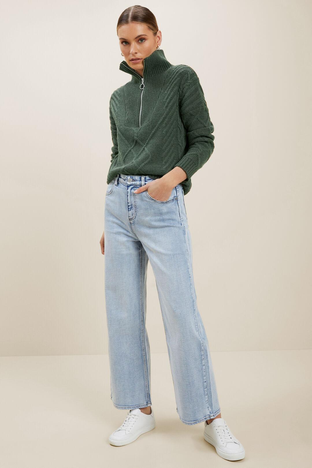 Zip Funnel Neck Sweater  BASIL MARLE  hi-res