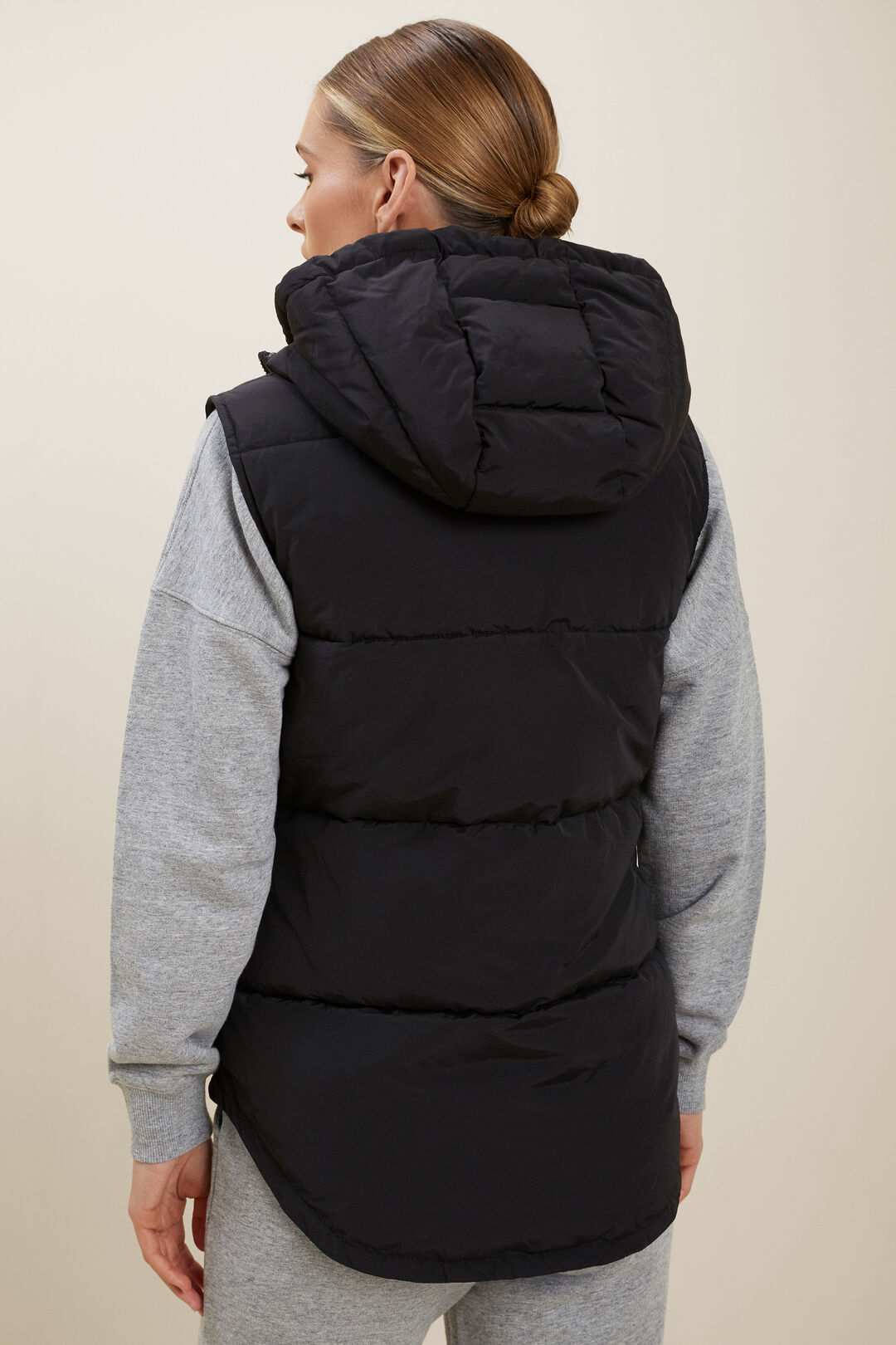 Puffer Vest  BLACK  hi-res