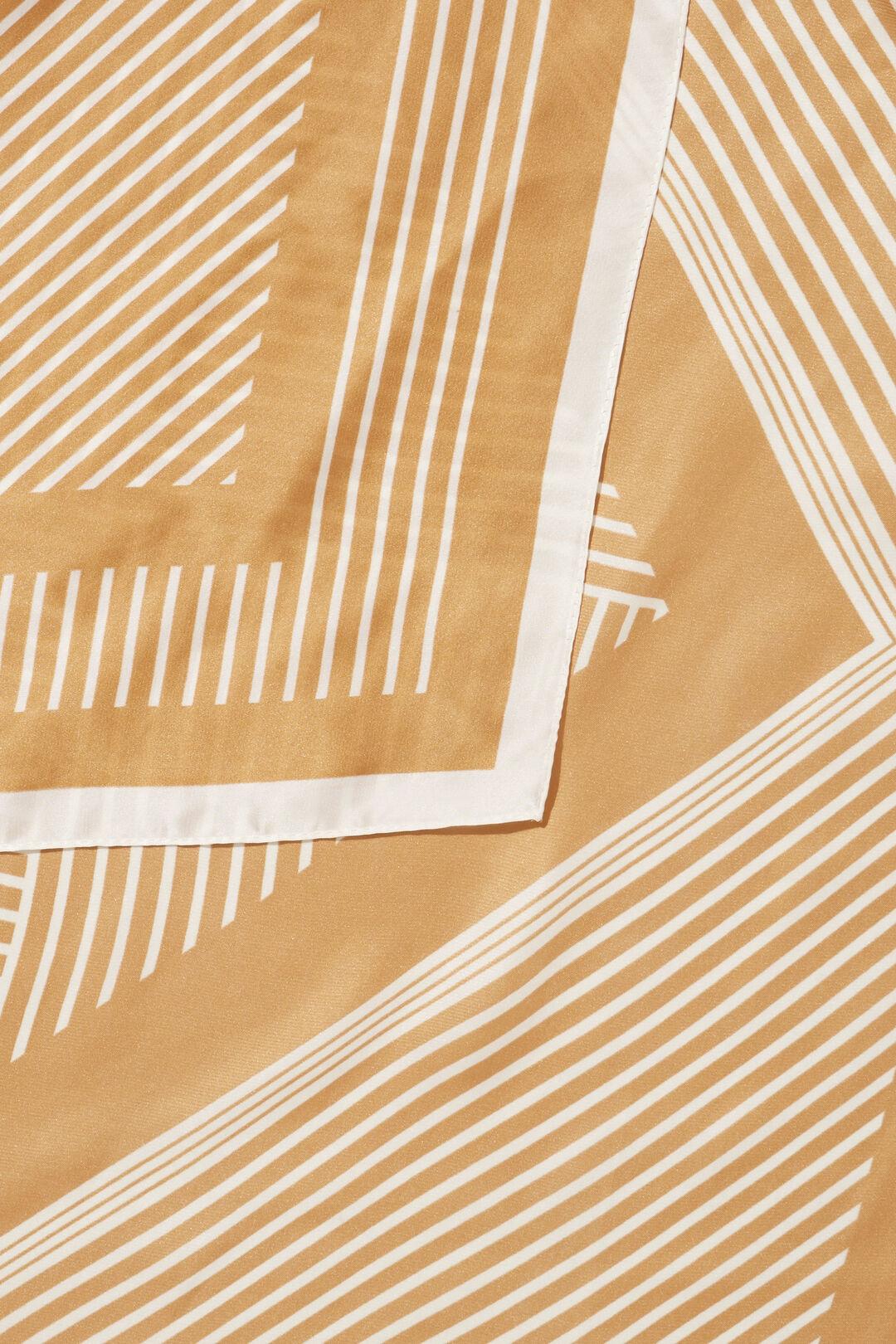 Striped Square Scarf  HONEY TAN  hi-res