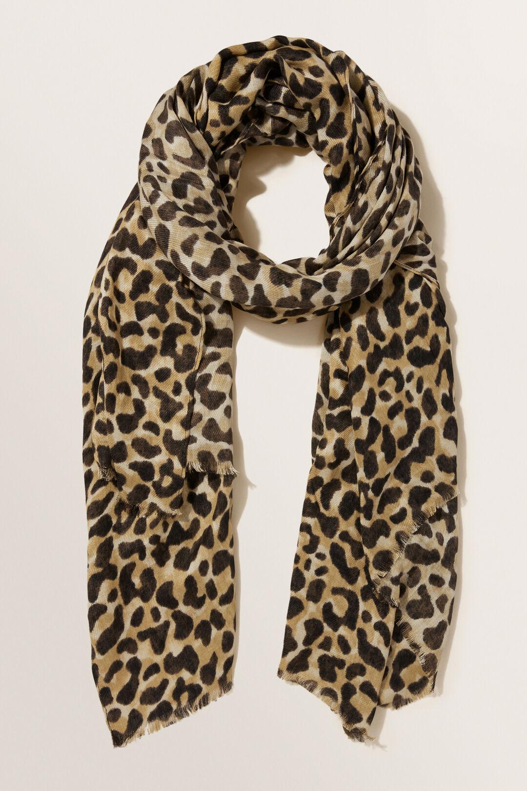 Leopard Print Scarf  LEOPARD  hi-res