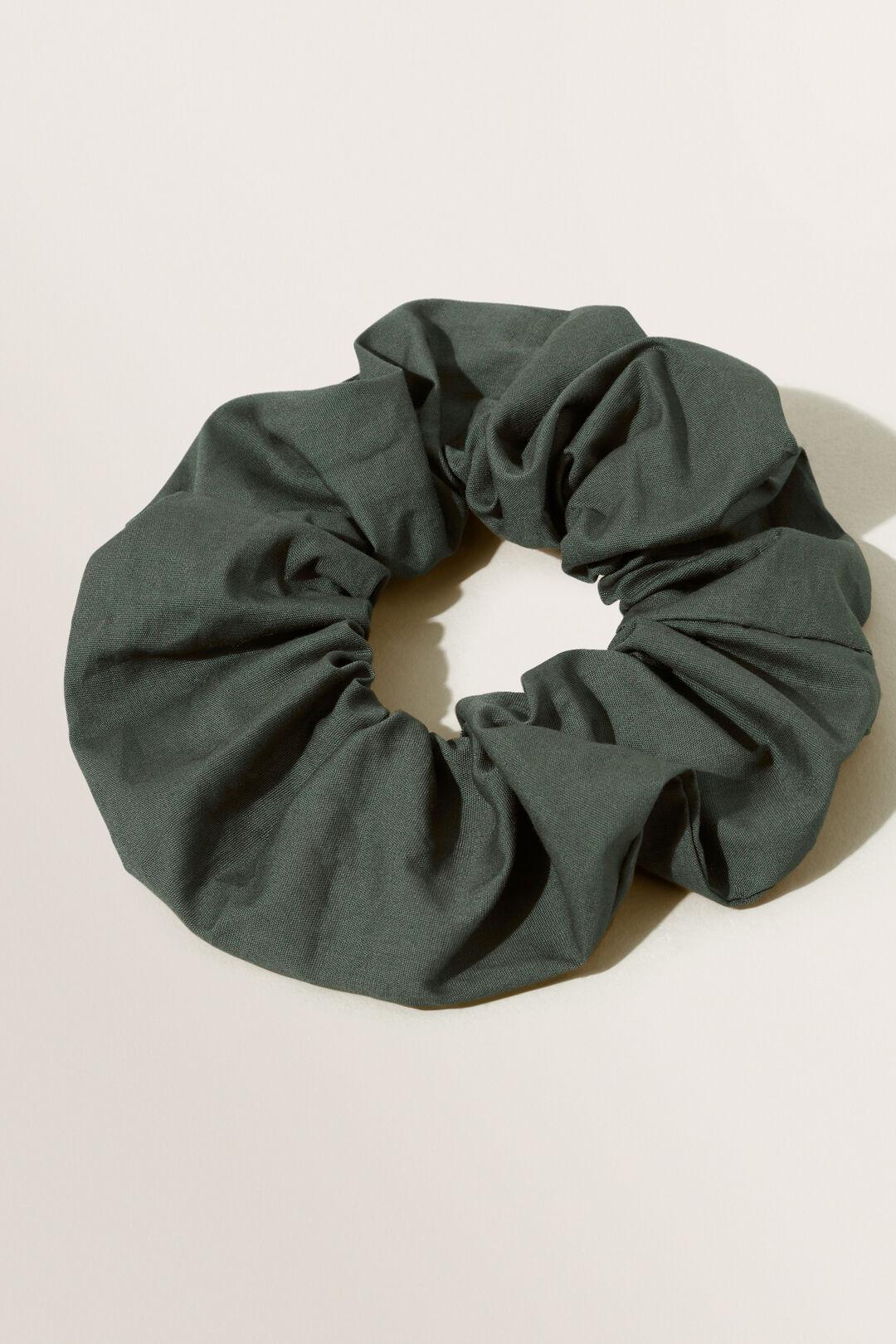 Cotton Scrunchie  BASIL  hi-res