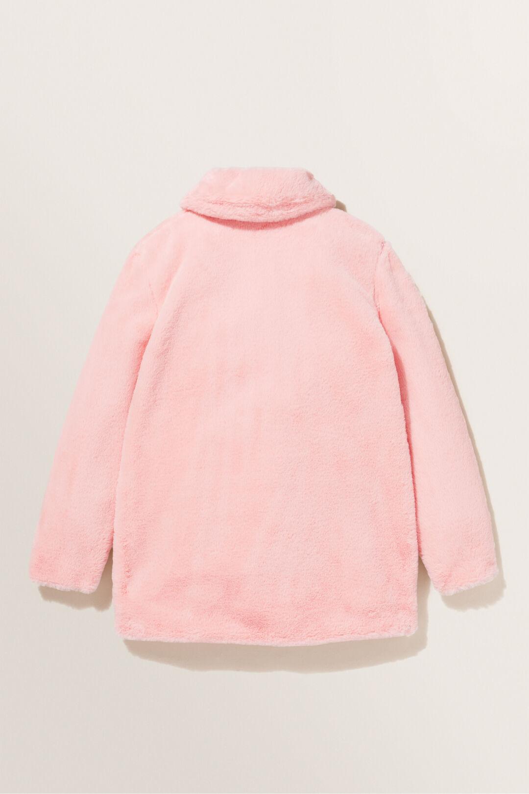 Faux Fur Coat  DUSTY ROSE  hi-res