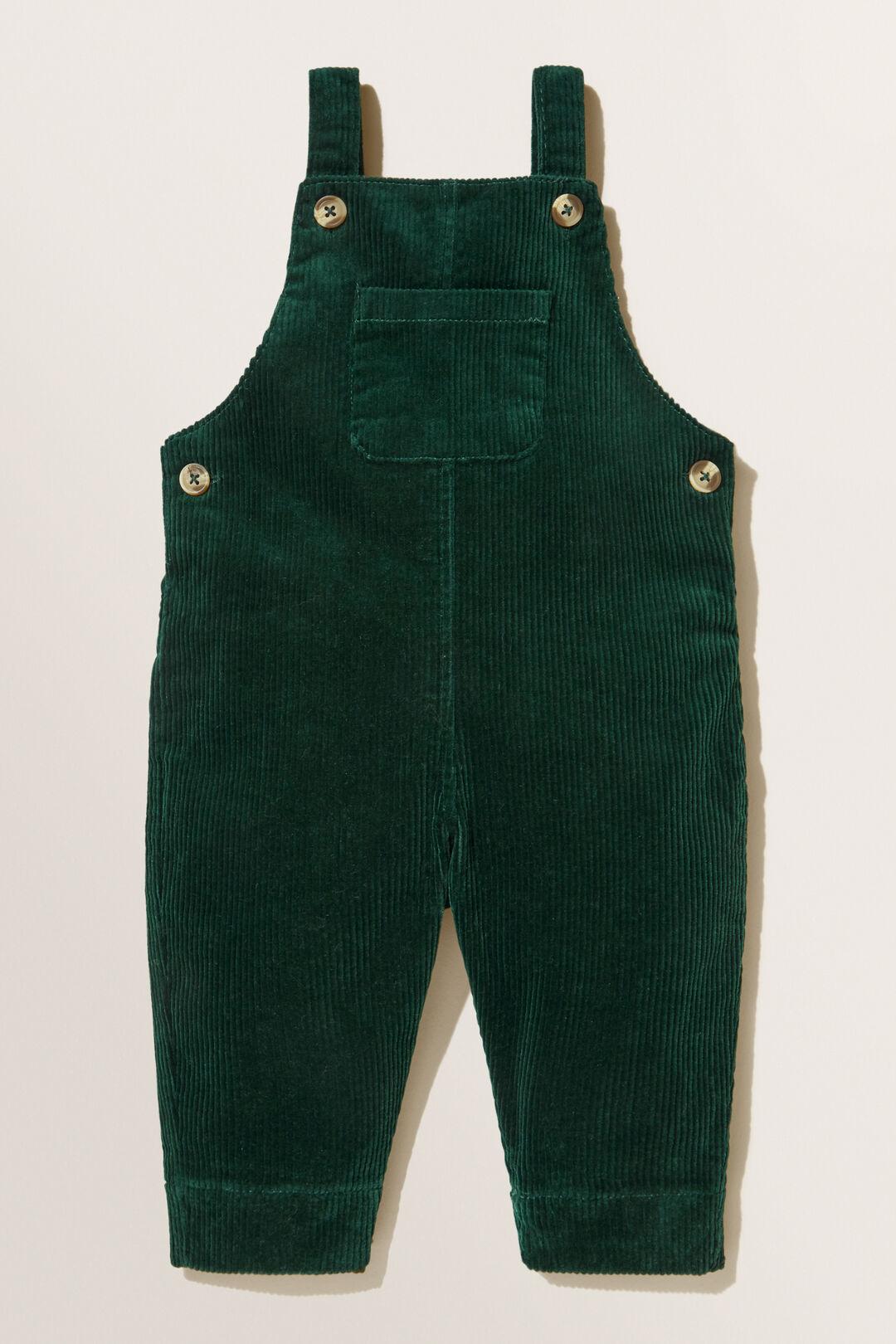 Corduroy Overalls  BOTTLE GREEN  hi-res
