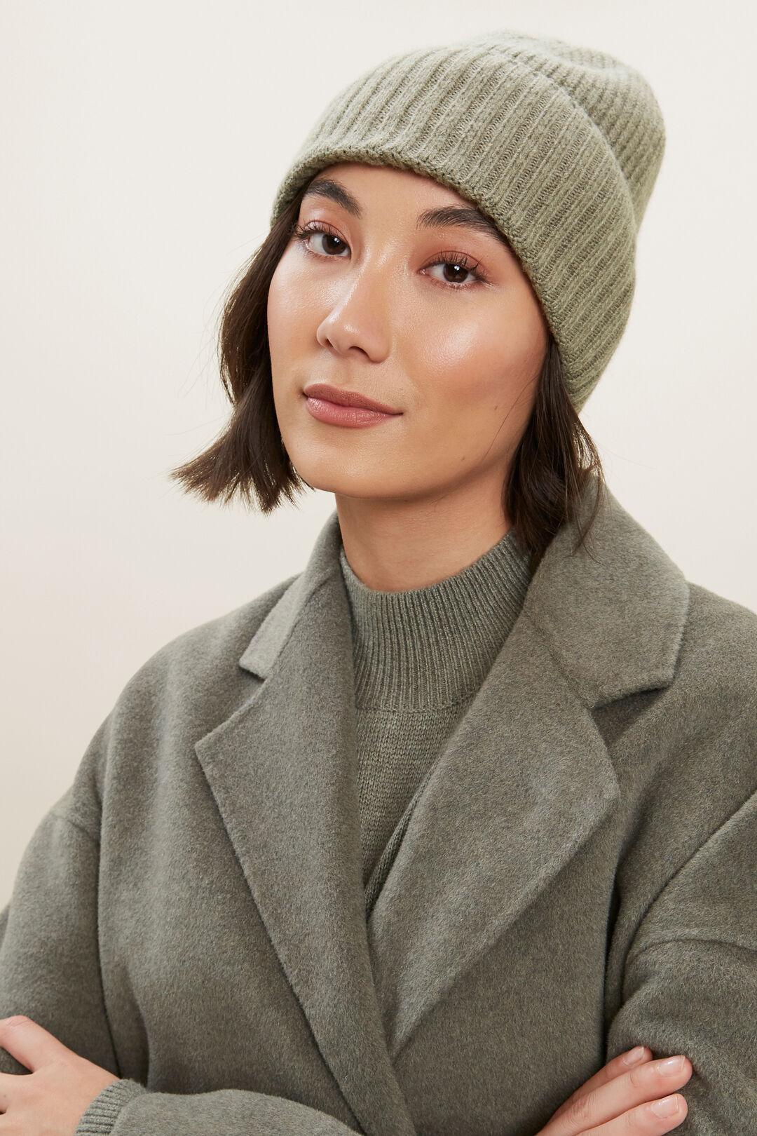 Wool Rib Beanie  OLIVE KHAKI MARLE  hi-res