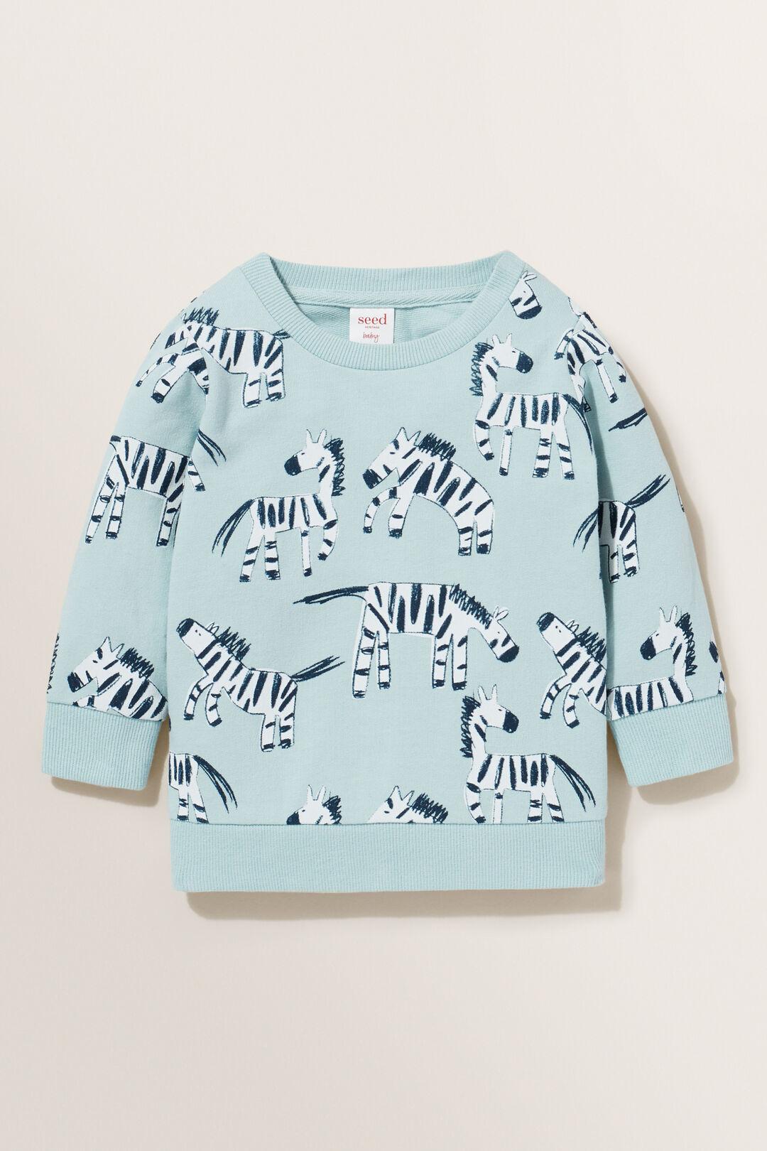 Zebra Sweater  SEA FOAM  hi-res
