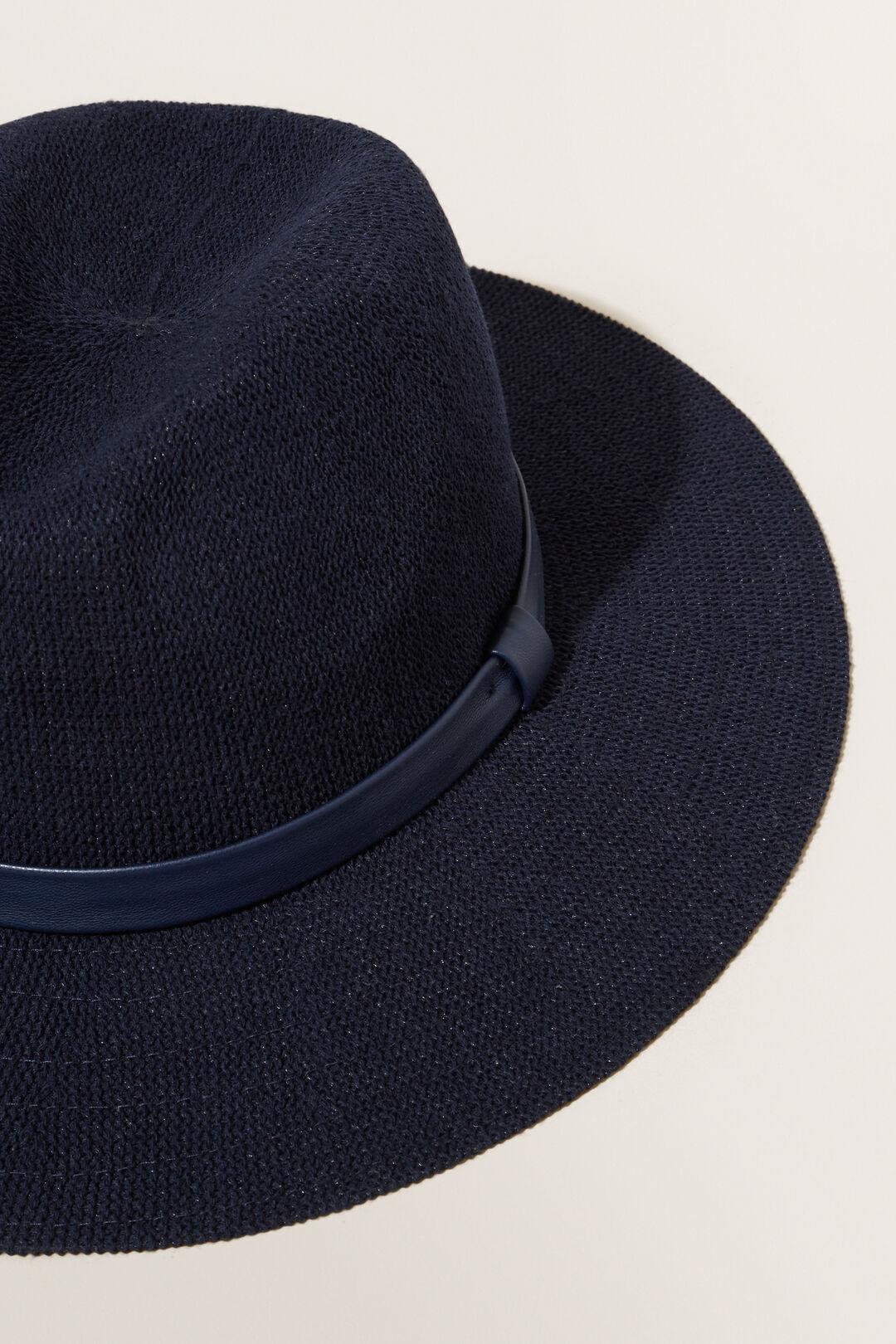 Lightweight Panama Hat  DEEP NAVY  hi-res