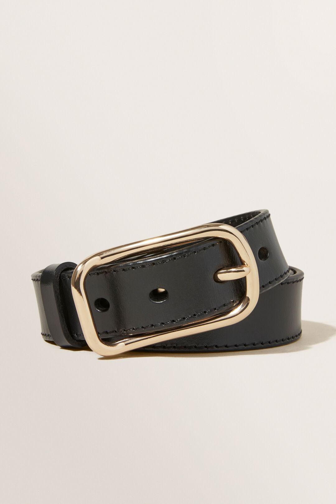 Demi Leather Belt  BLACK  hi-res