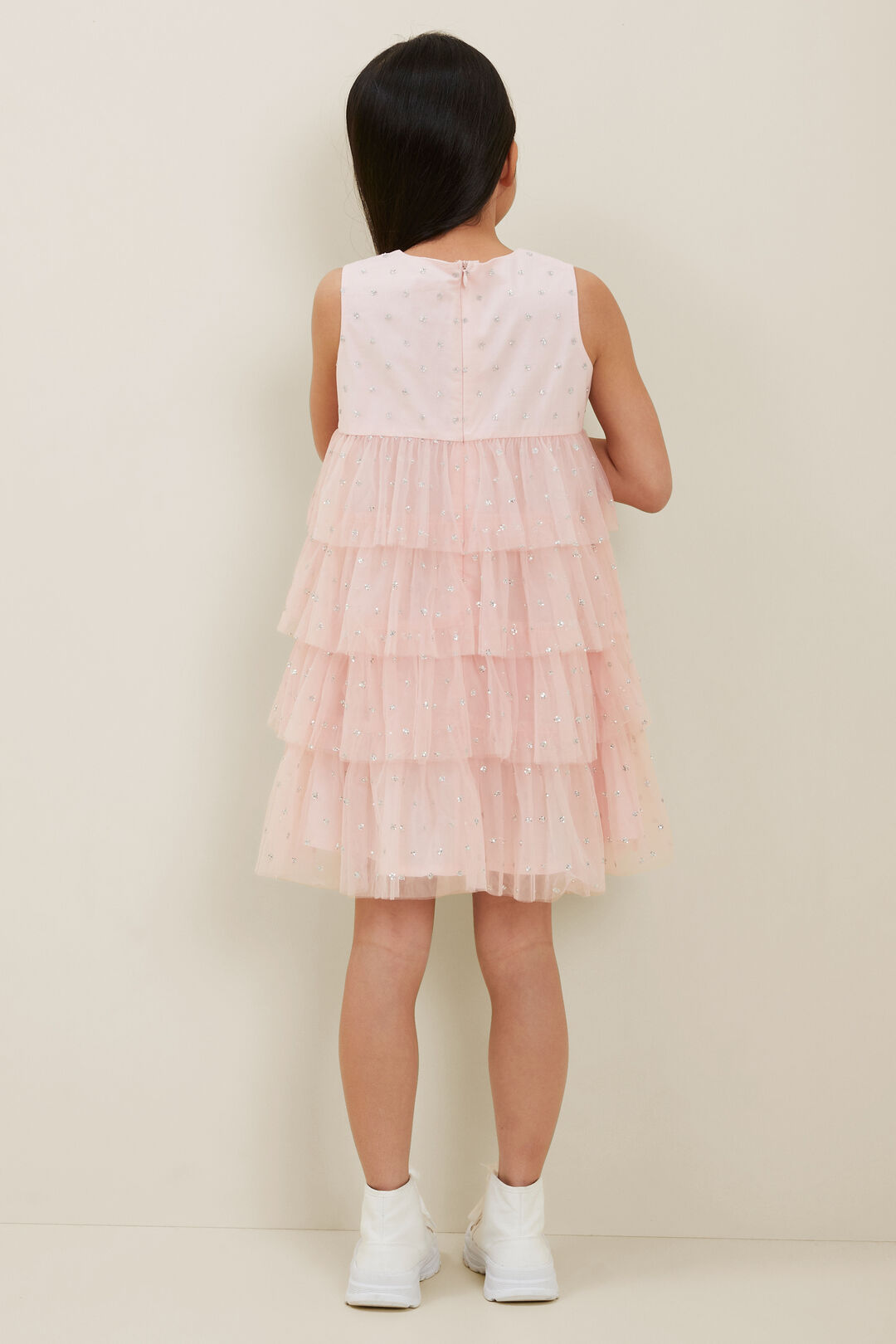 Tulle Tiered Dress  DUSTY ROSE  hi-res