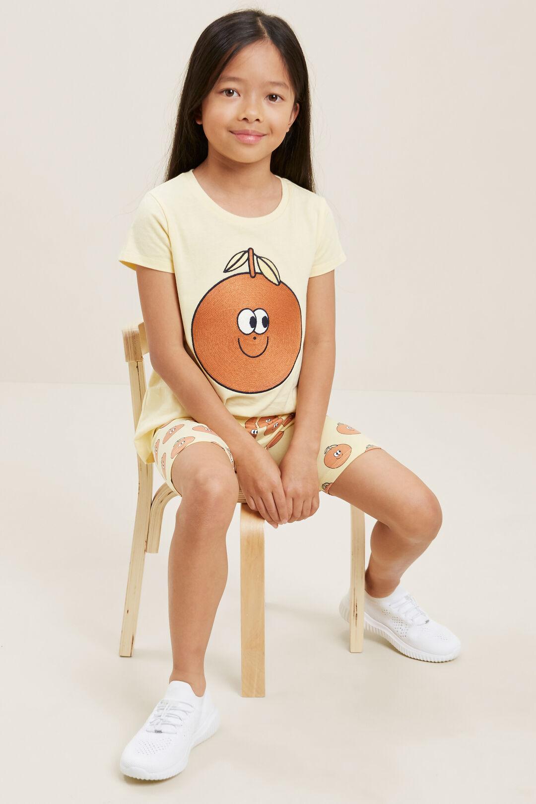 Orange EmbroideredTee  BUTTERCUP  hi-res