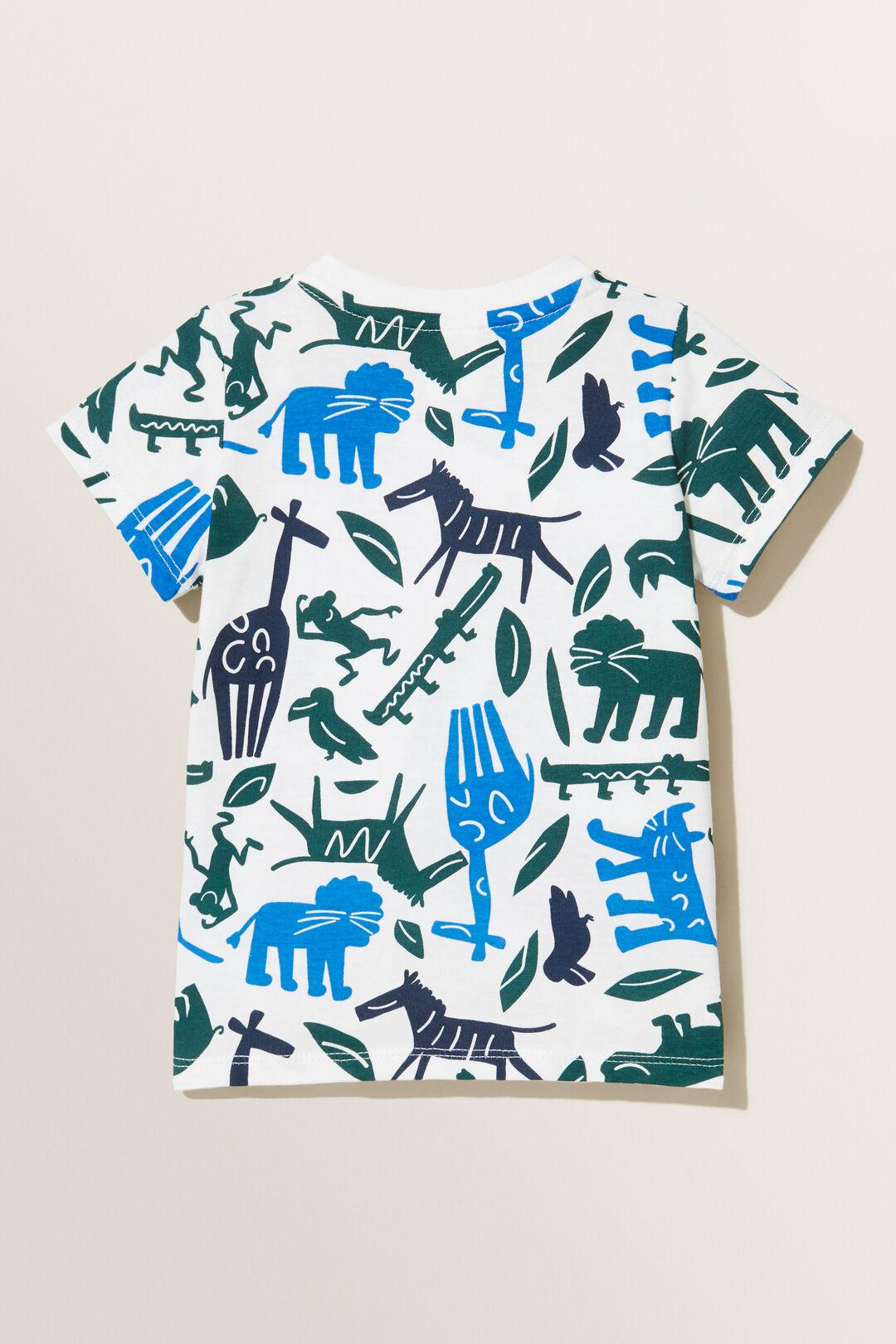 Jungle Animals Tee  VINTAGE WHITE  hi-res