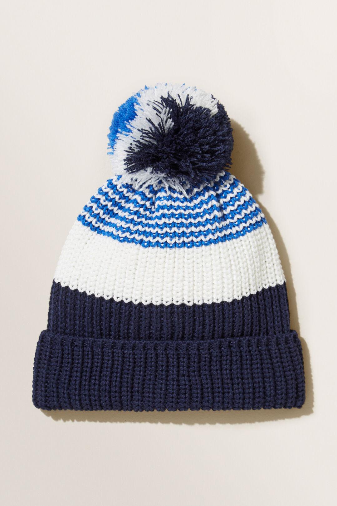 Stripe Knit Beanie  MULTI  hi-res