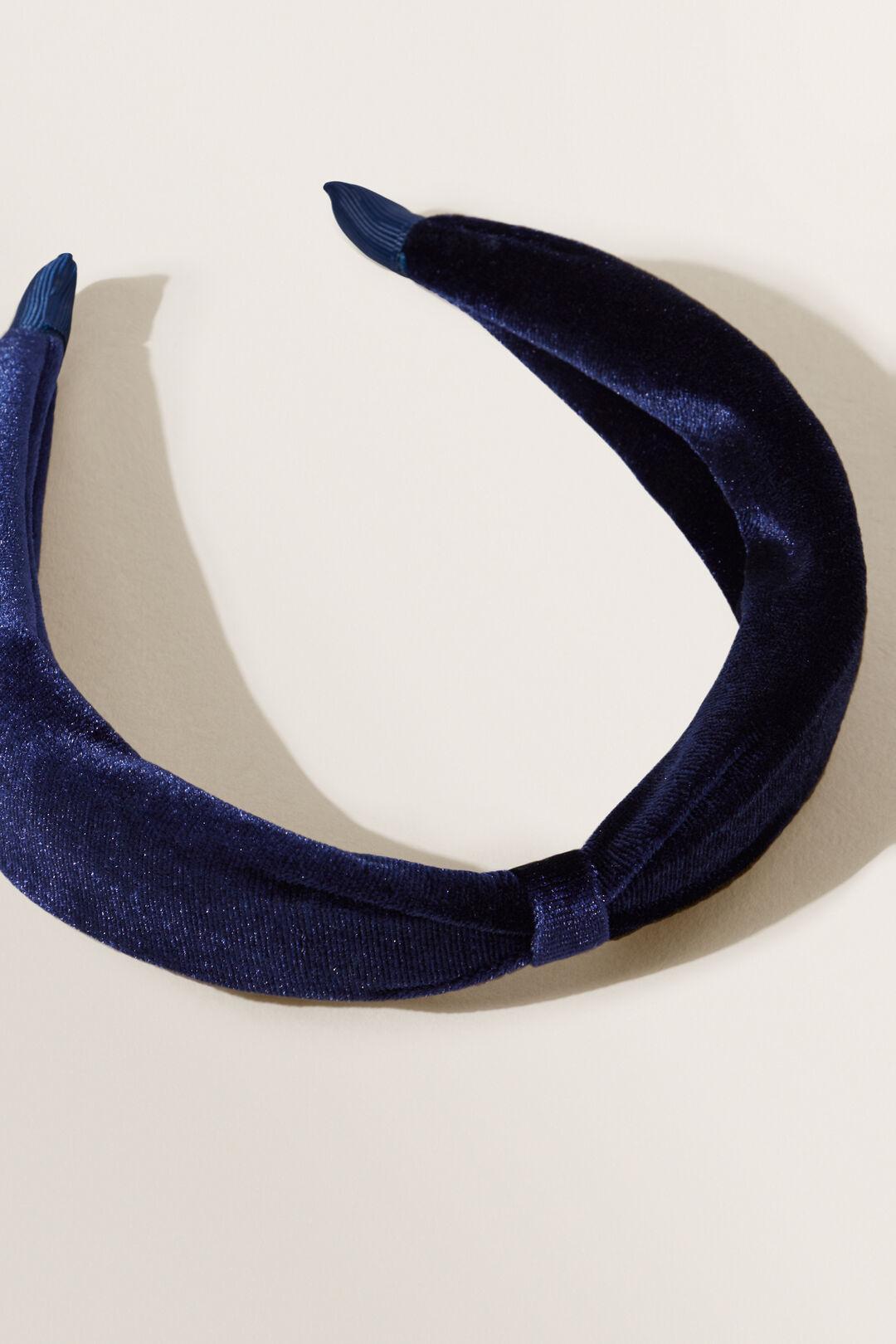 Velvet Turban Headband  NAVY  hi-res