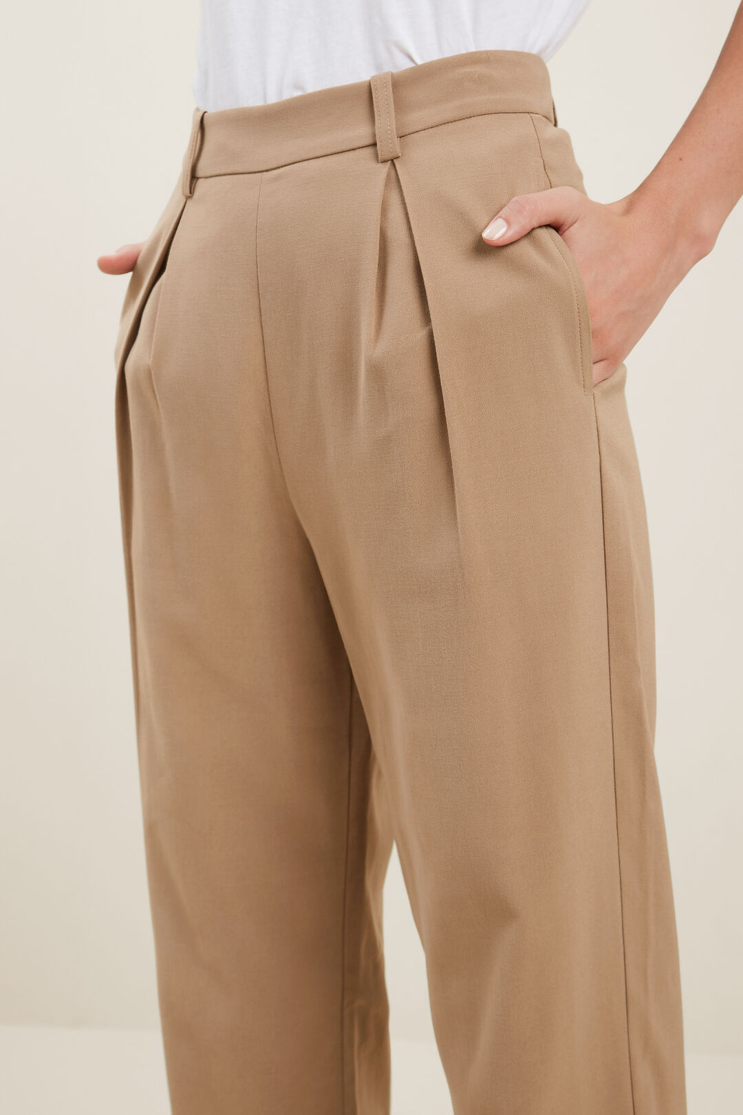 Wide Leg Suit Trouser  HONEY DEW  hi-res