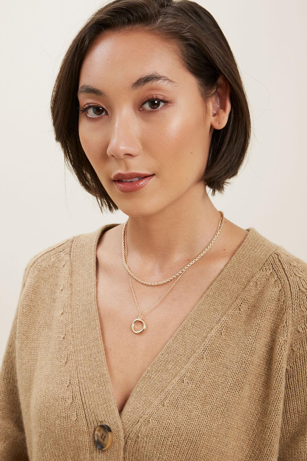 Twist Chain Necklace  GOLD  hi-res