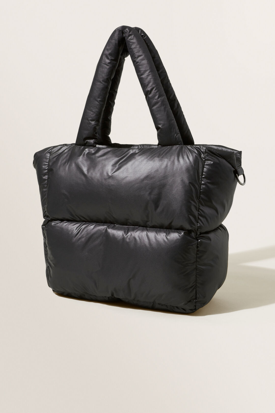 Quilted Tote Bag  BLACK  hi-res