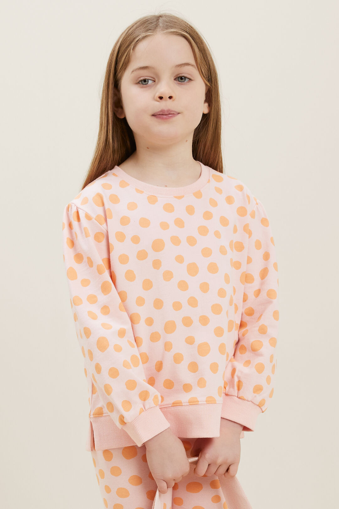 Animal Spot Sweater  DUSTY ROSE  hi-res