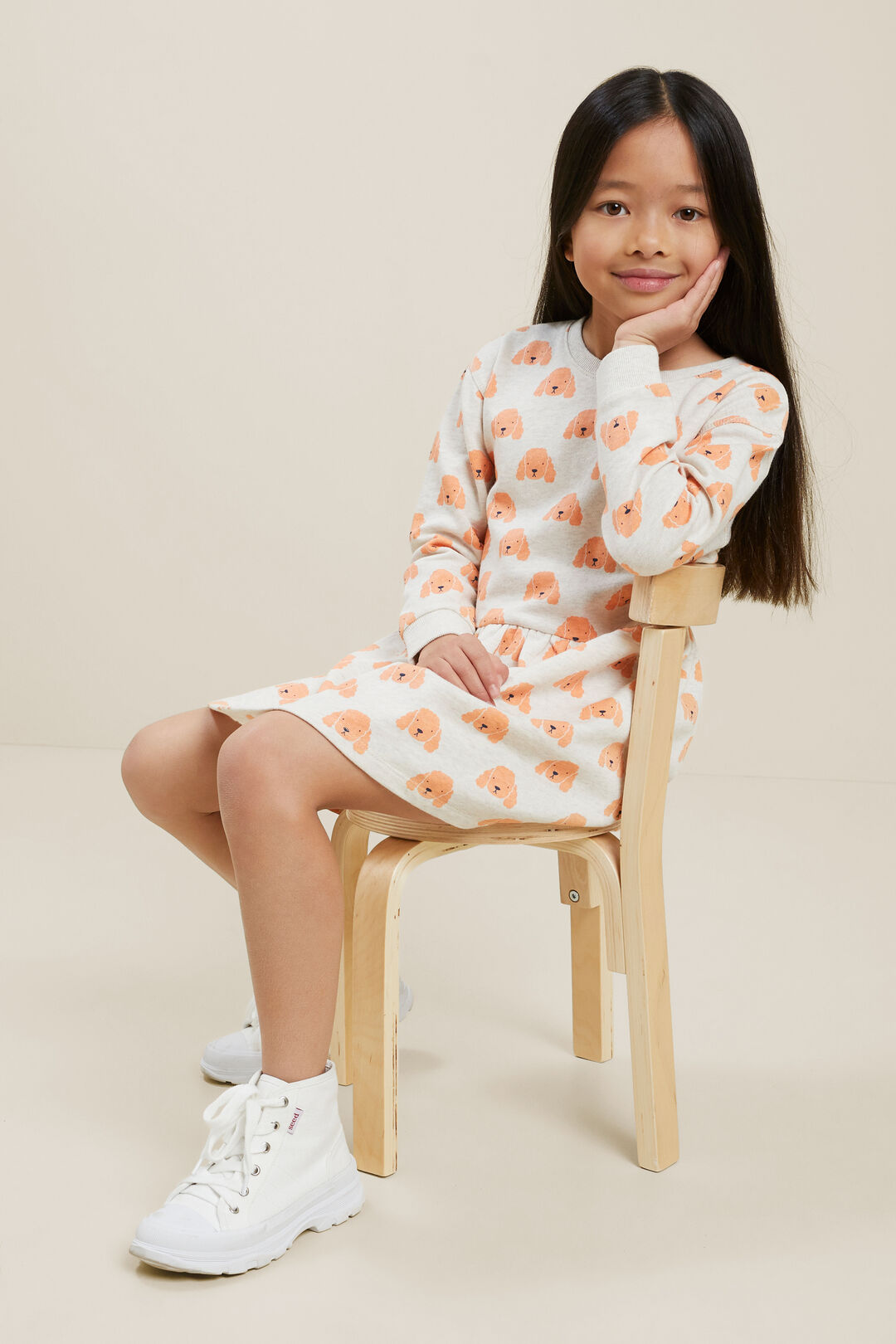 Poodle Terry Sweater Dress  OAT MARLE  hi-res