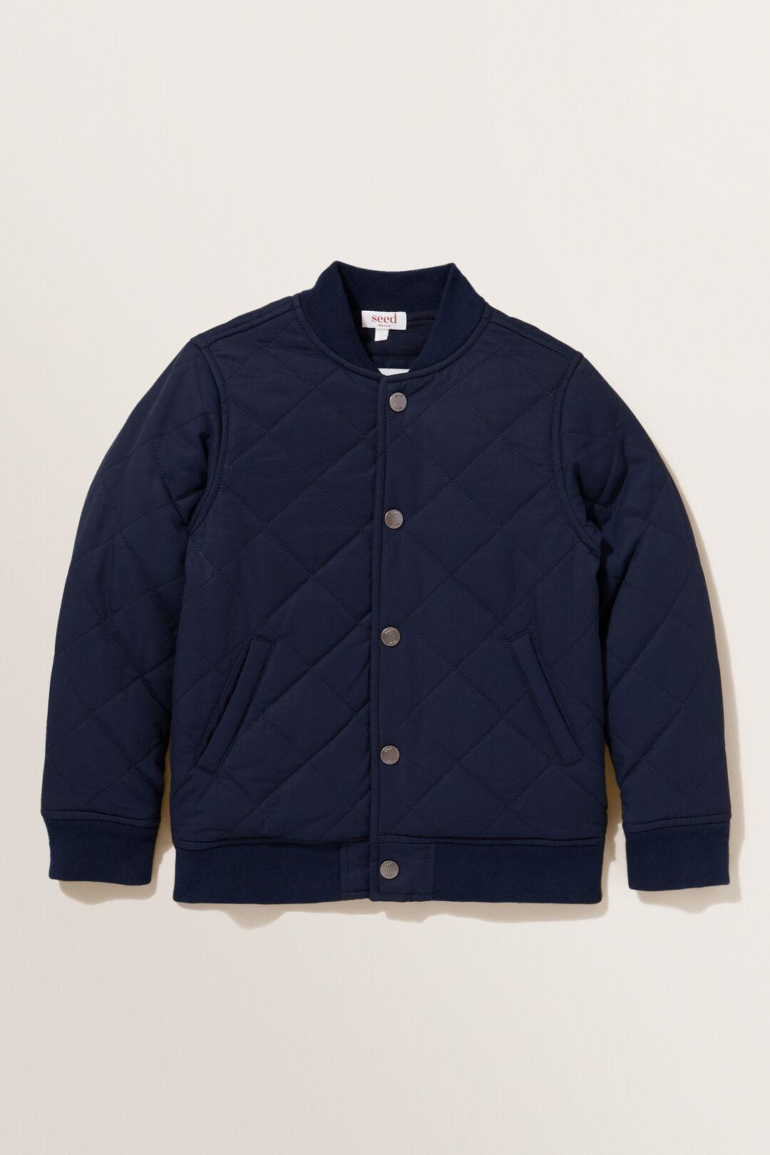 Snap Front Bomber Jacket  MIDNIGHT BLUE  hi-res