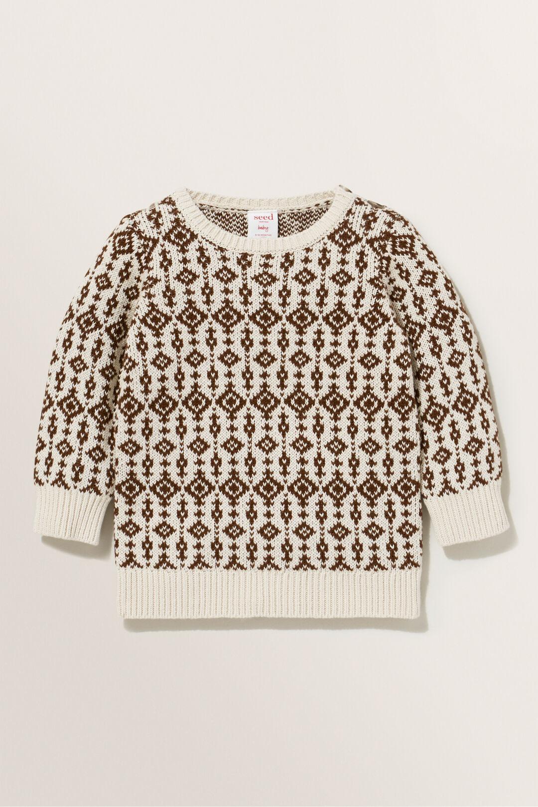 Knit Jacquard Sweater  CREAM  hi-res