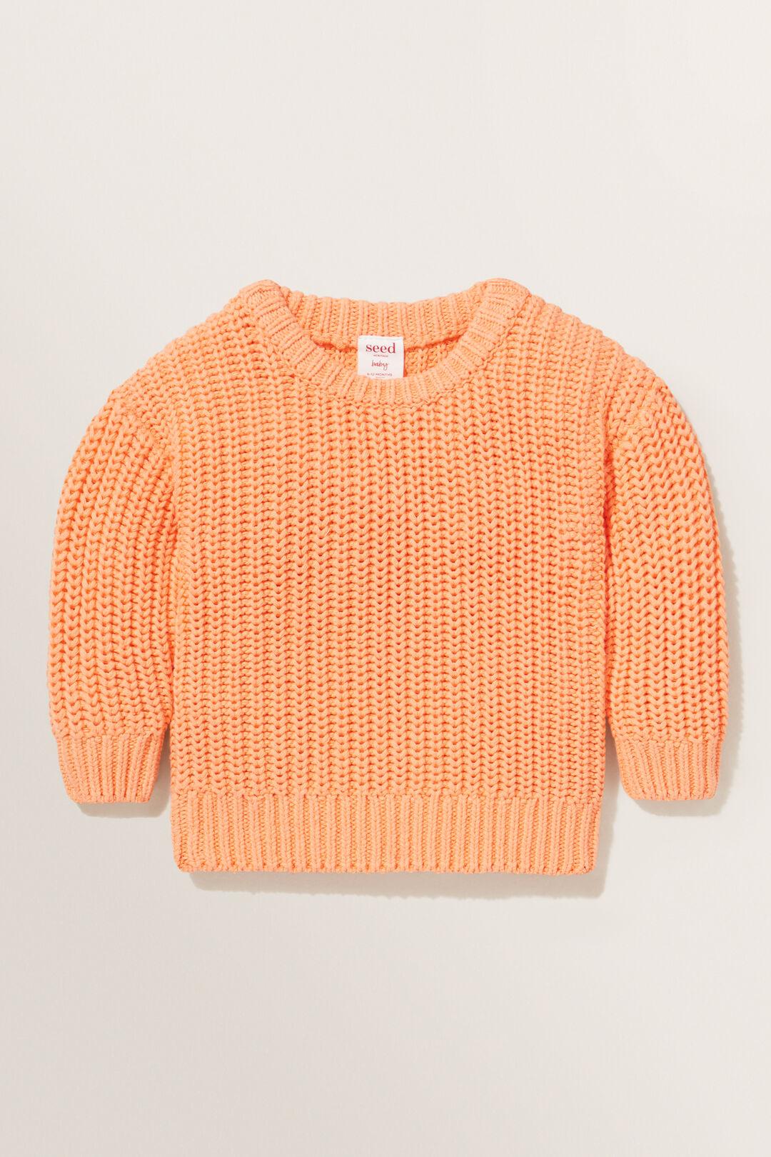 Chunky Knit  APRICOT  hi-res