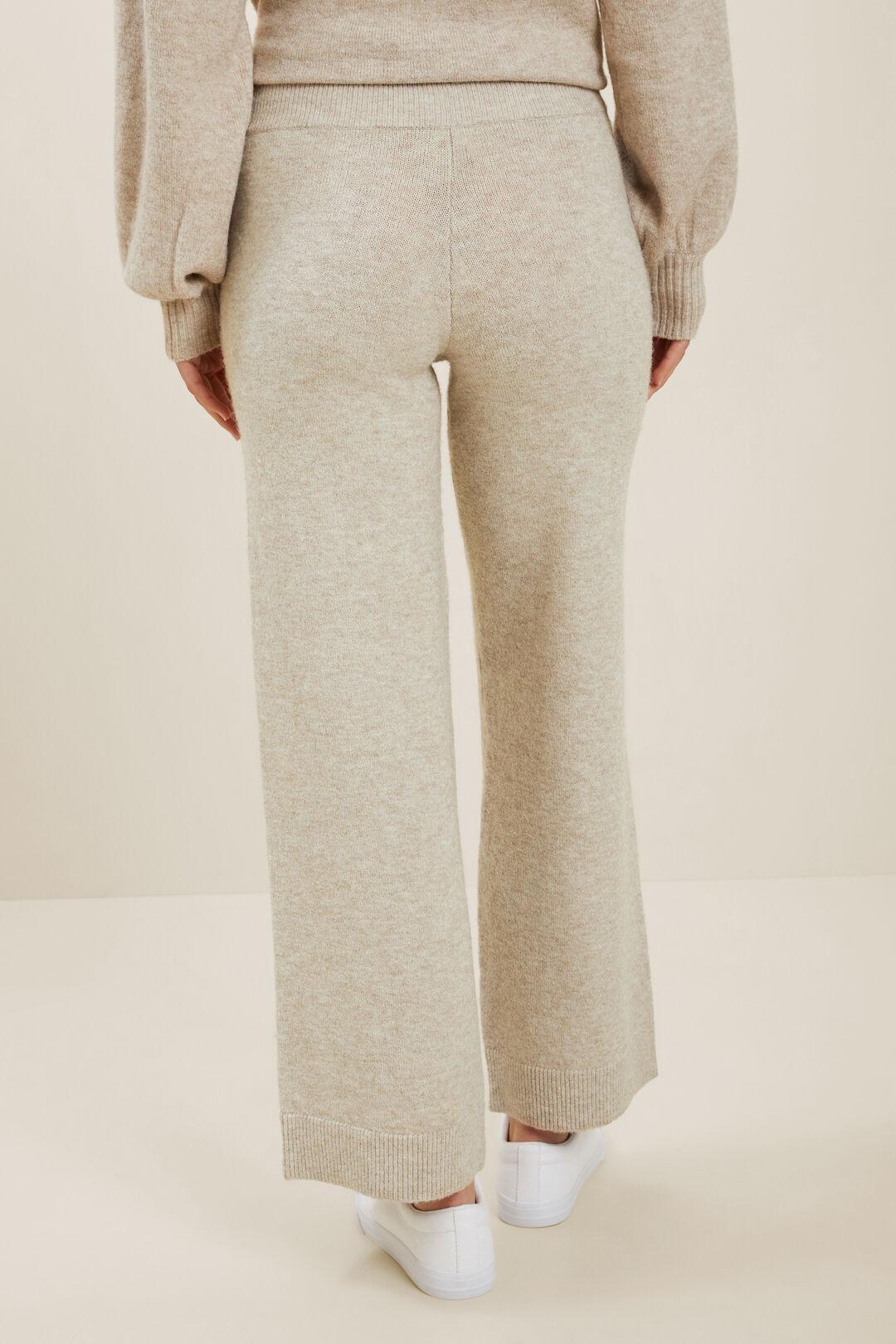 Tie Front Knit Pant  NEUTRAL BLUSH MARLE  hi-res
