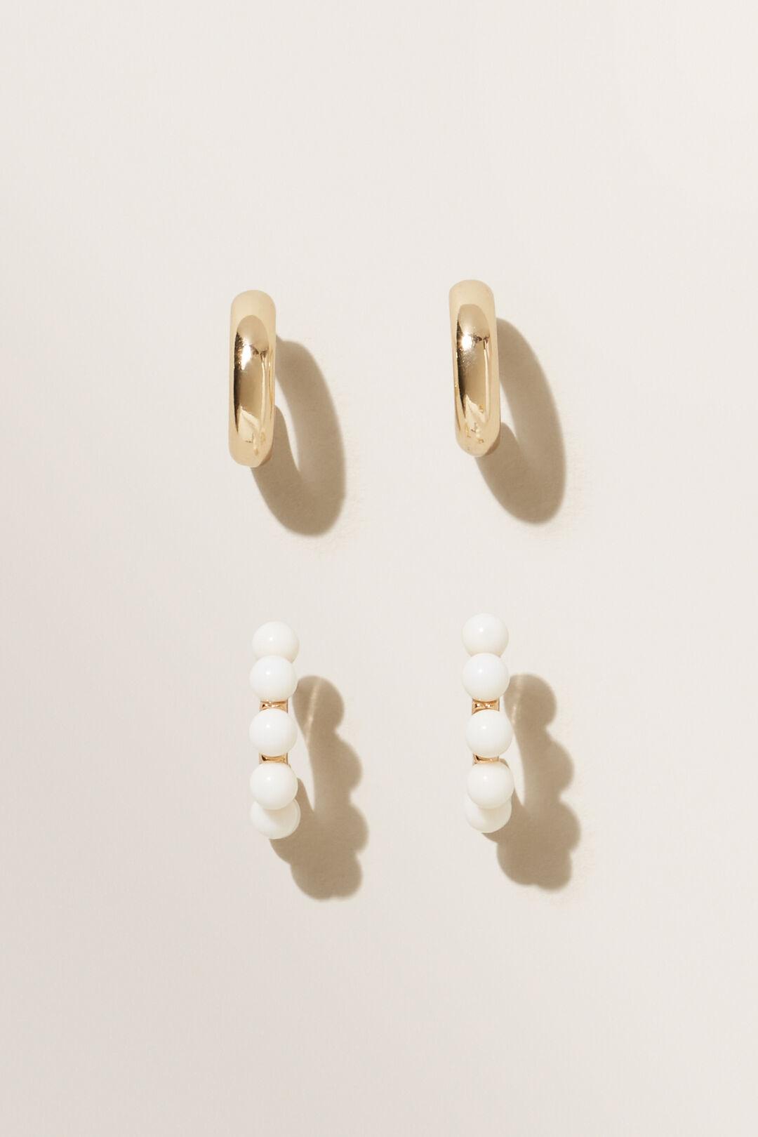 Mini Hoop Pack  GOLD FRENCH VANILLA  hi-res