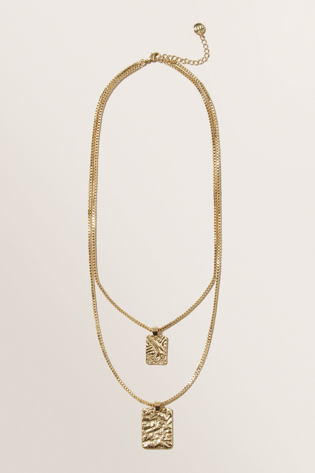 Layered Medallion Necklace  GOLD  hi-res