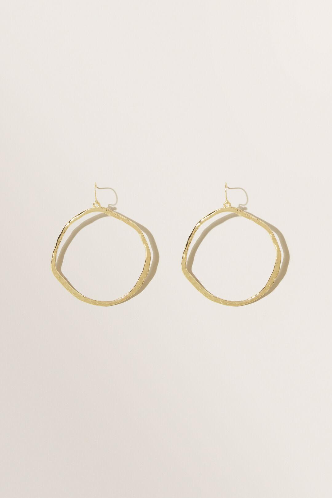 Hook Hoop Earrings  GOLD  hi-res