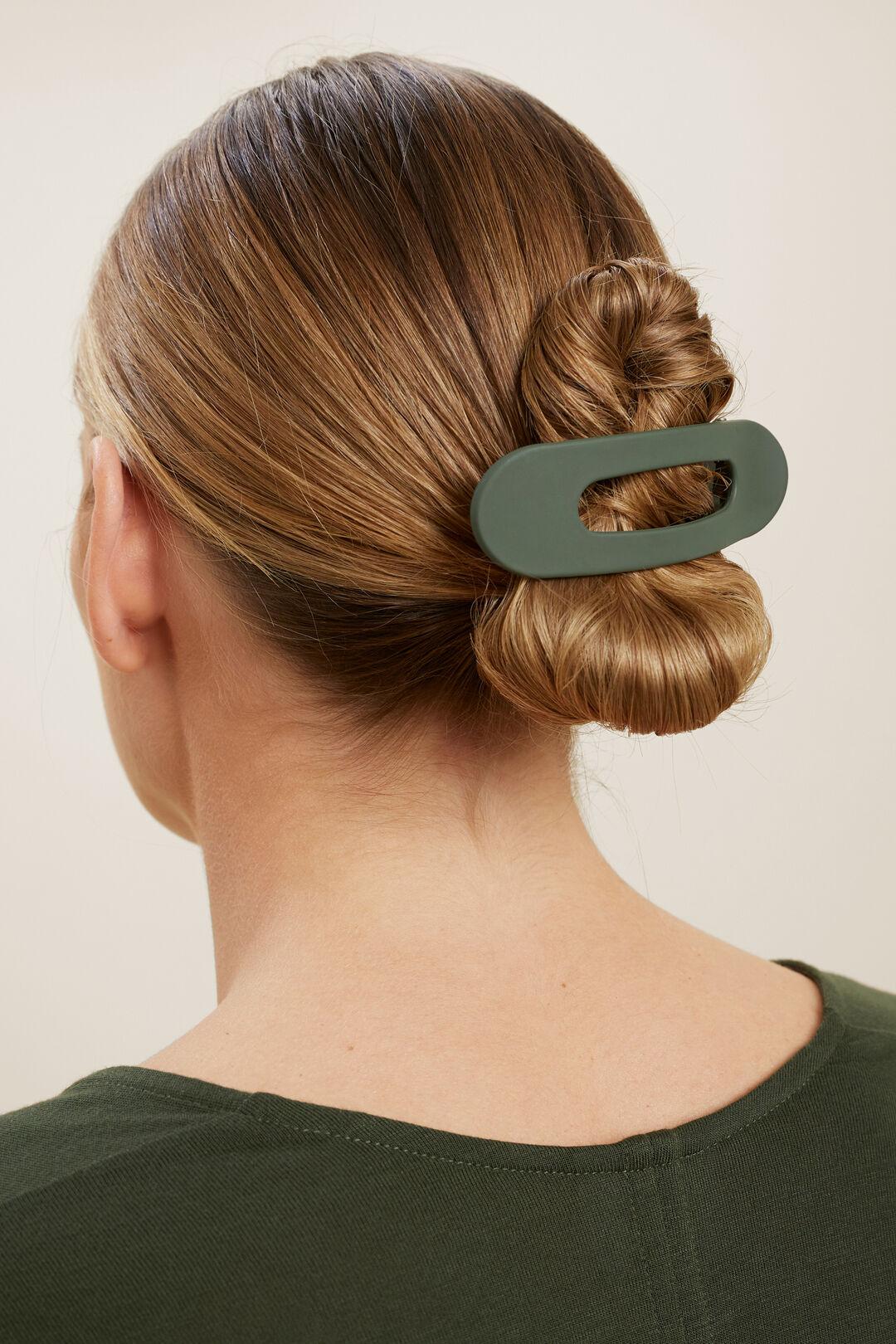 Matte Hair Clip  BASIL  hi-res