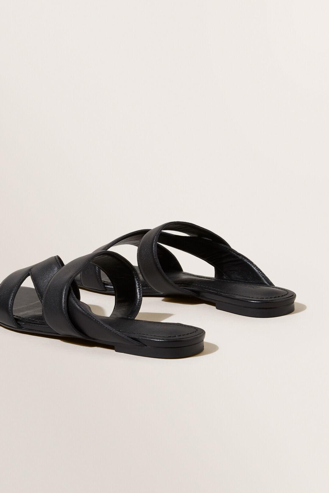 Maya Leather Sandal  BLACK  hi-res
