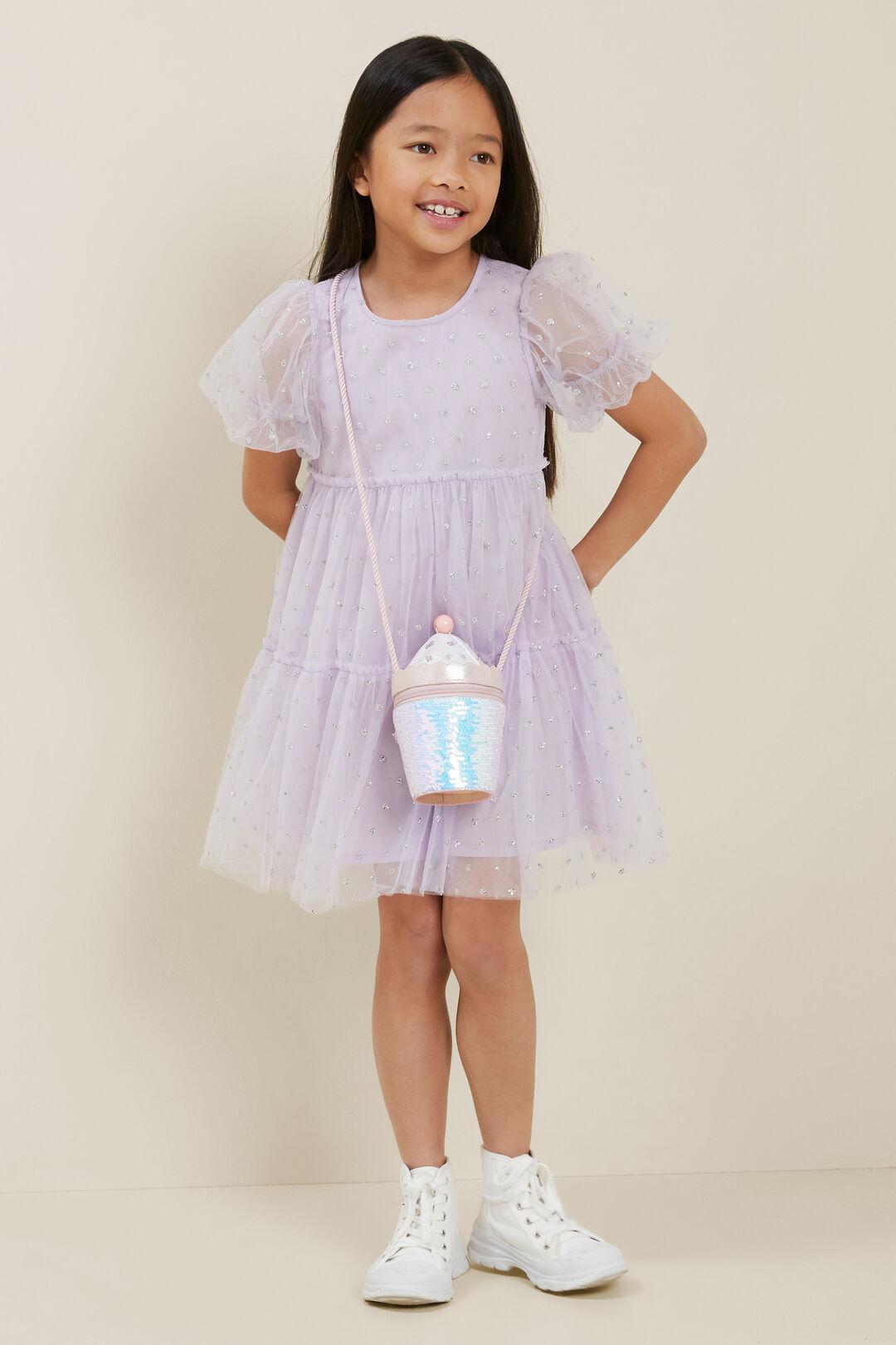Glitter Tulle Midi Dress  VIOLET  hi-res