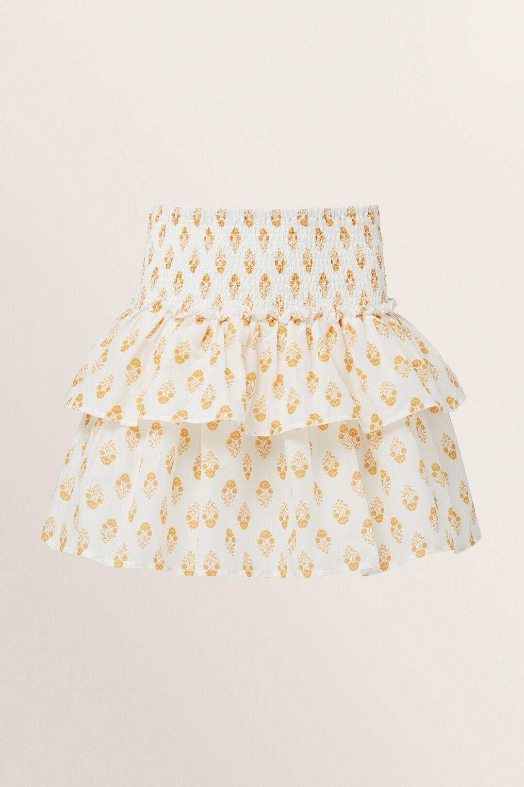 Batik Print Skirt  CHALK  hi-res