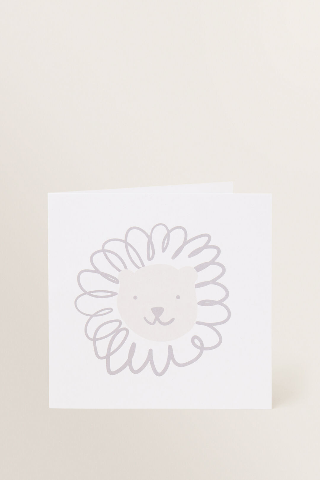 Large Lion Card  MULTI  hi-res