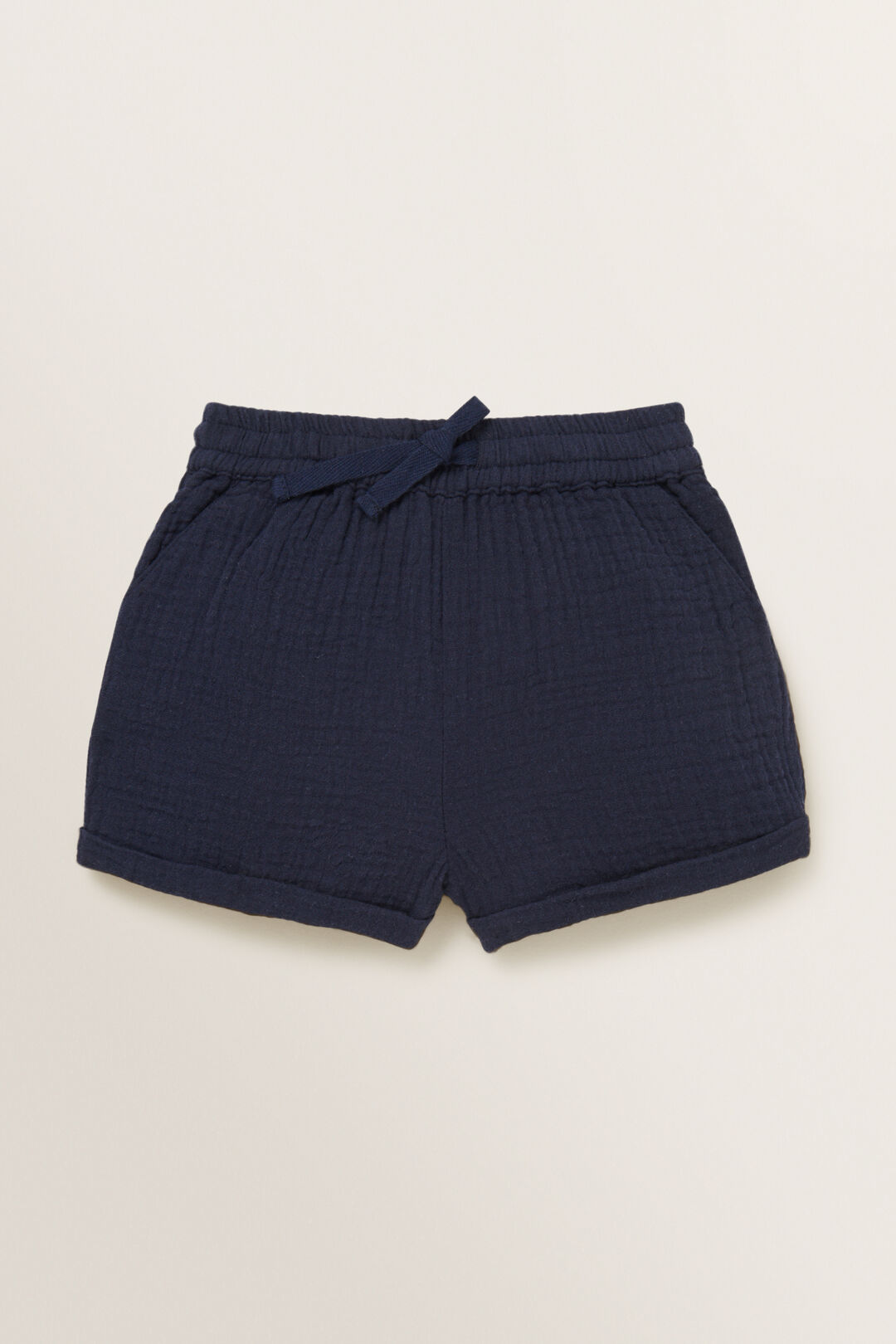 Double Cheesecloth Short  MIDNIGHT BLUE  hi-res