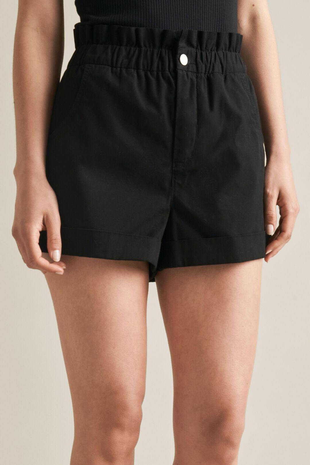 Roll Up Shorts  BLACK  hi-res