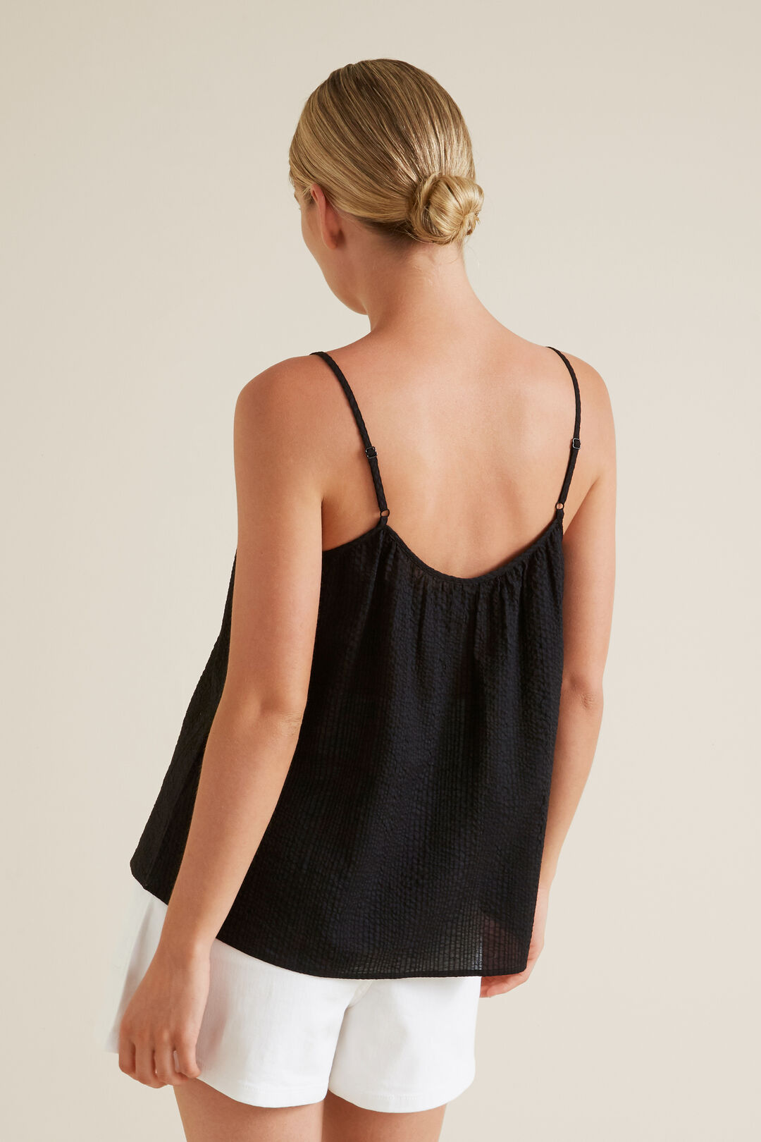Textured Cami  BLACK  hi-res
