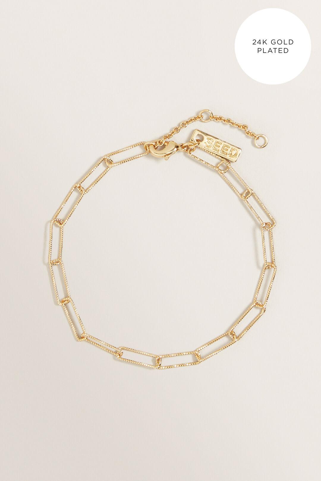 Fine Wide Chain Bracelet  GOLD  hi-res