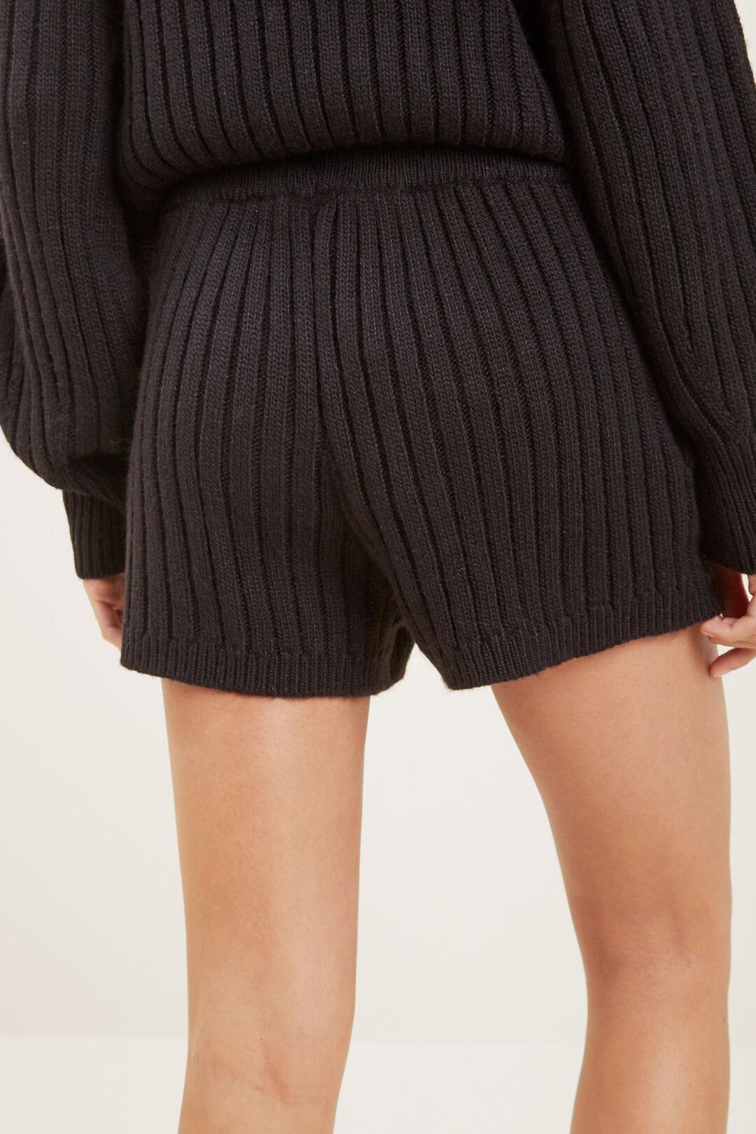 Knit Short  BLACK  hi-res