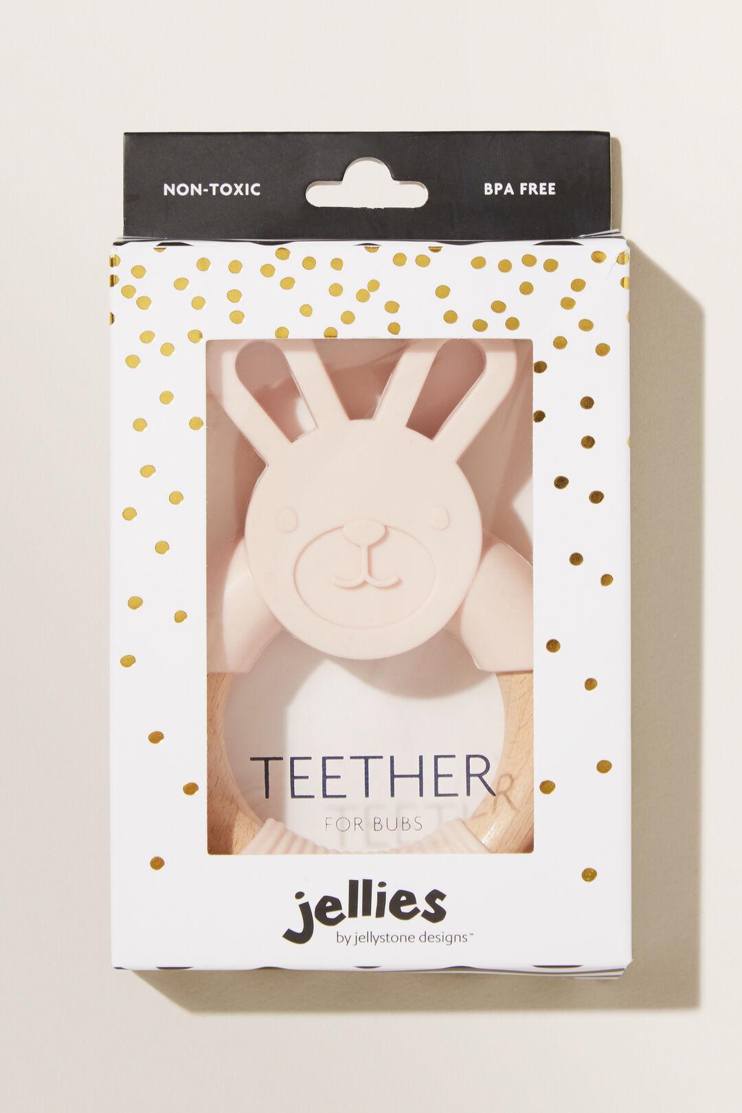 Pink Bunny Teether  BLUSH  hi-res