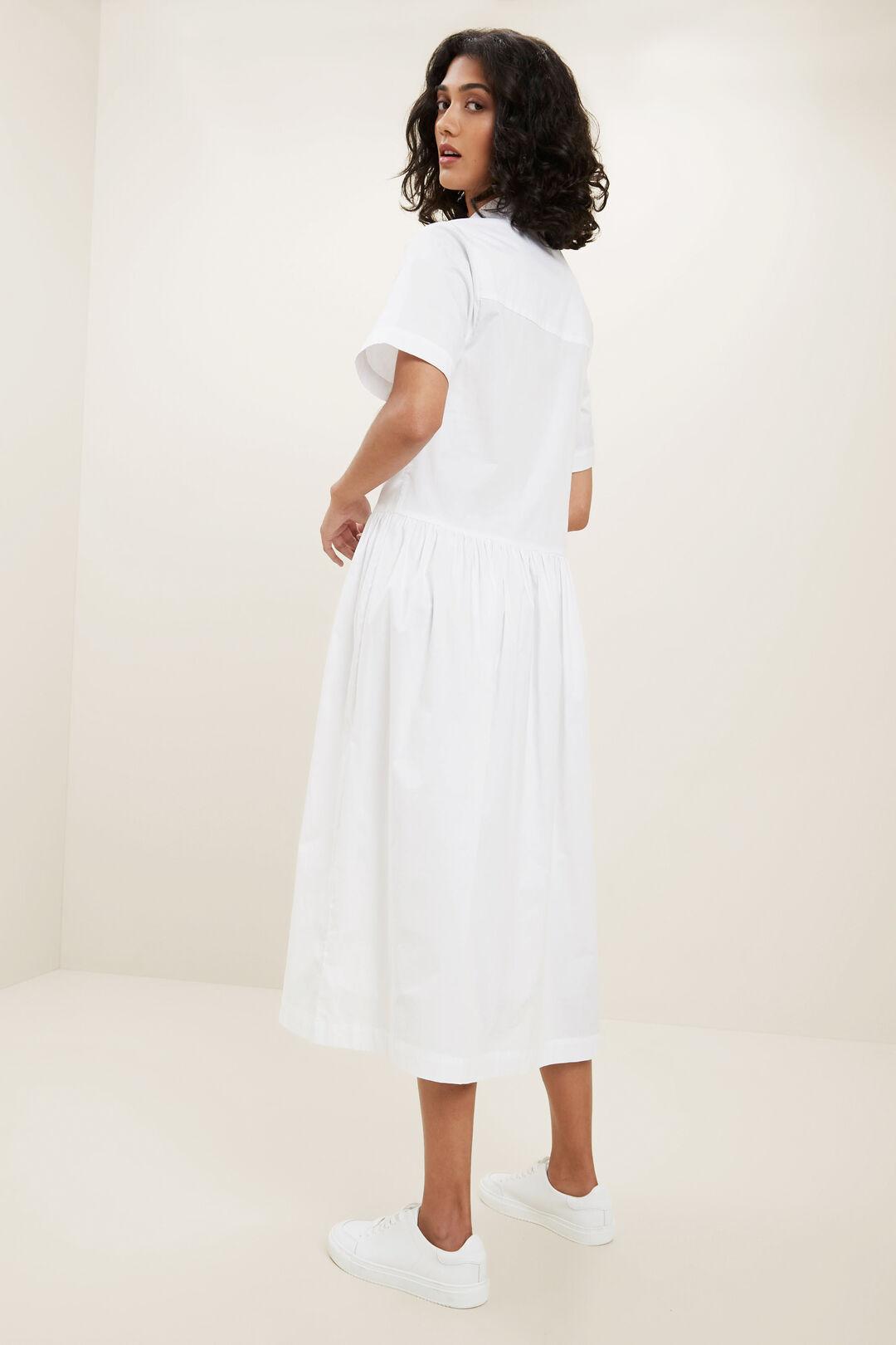 Boxy Shirt Dress  WHISPER WHITE  hi-res