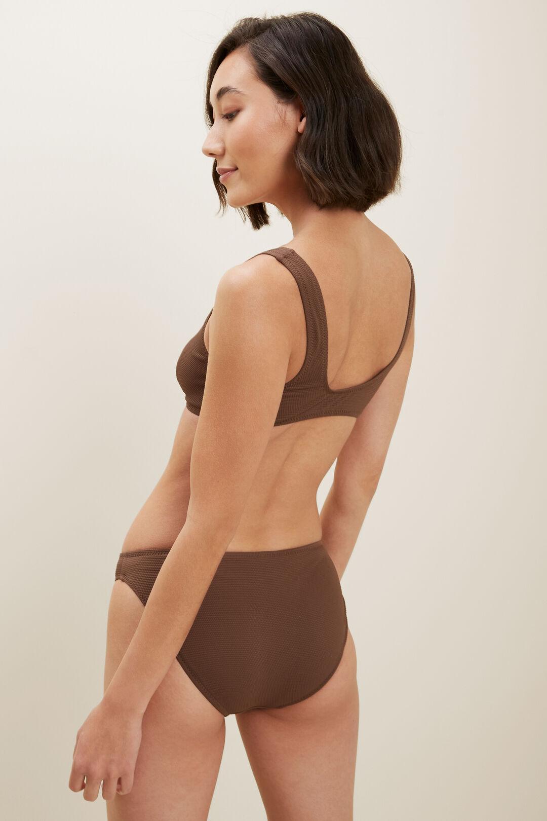 Textured Bikini  RUSSET BROWN  hi-res