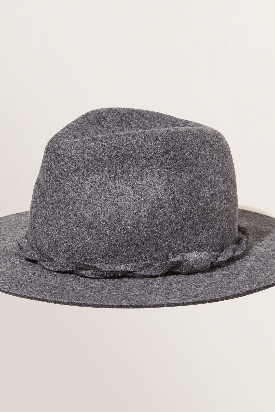 Wool Panama Hat  DARK GREY MARLE  hi-res