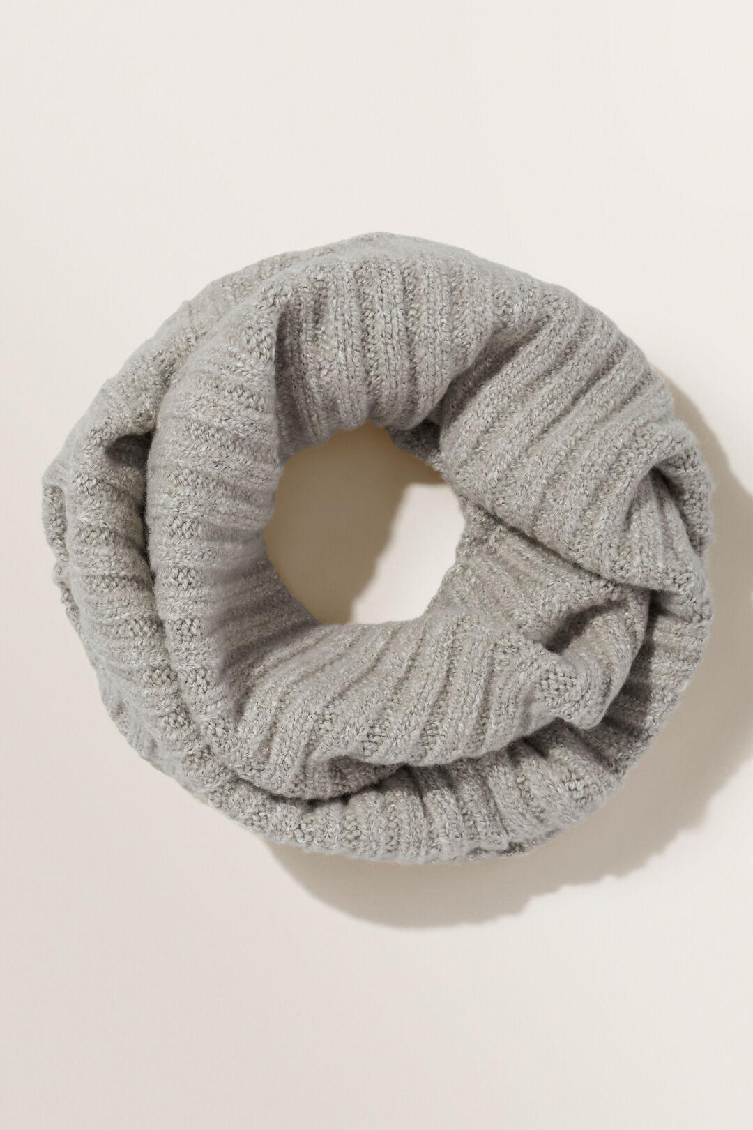 Rib Knit Snood  COOL GREY MARLE  hi-res