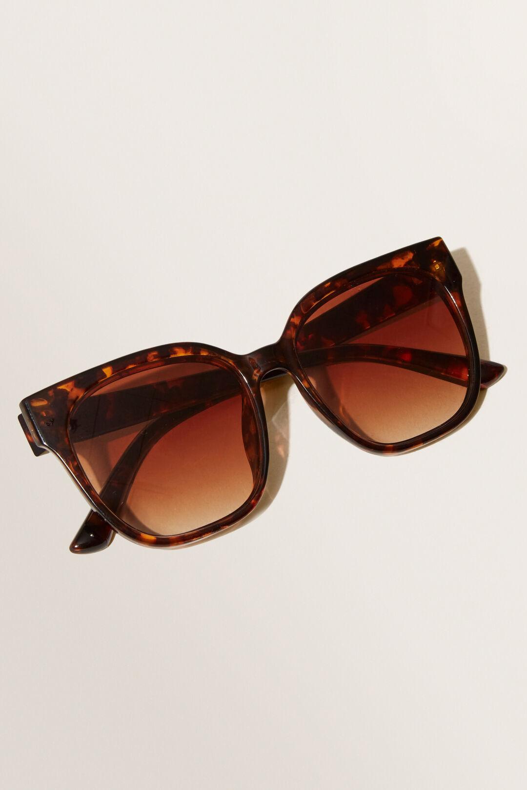 Ella Square Sunglasses  BROWN TORT  hi-res