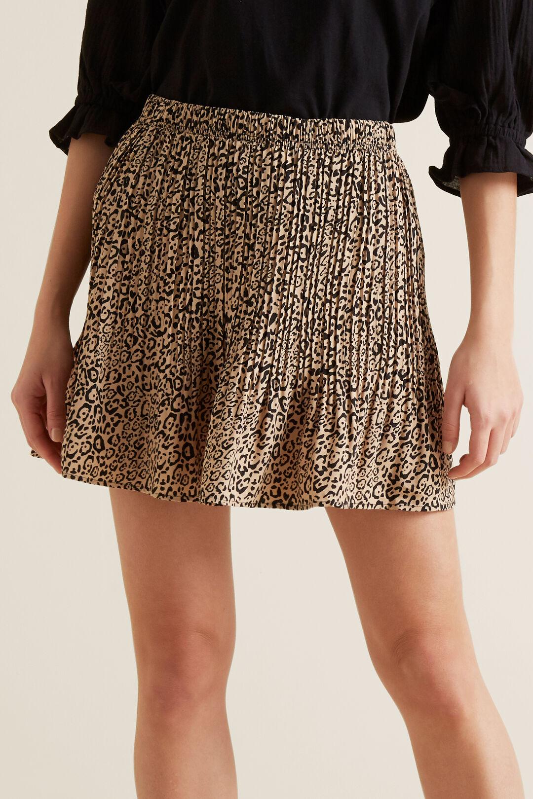 Mini Pleated Skirt  OCELOT  hi-res