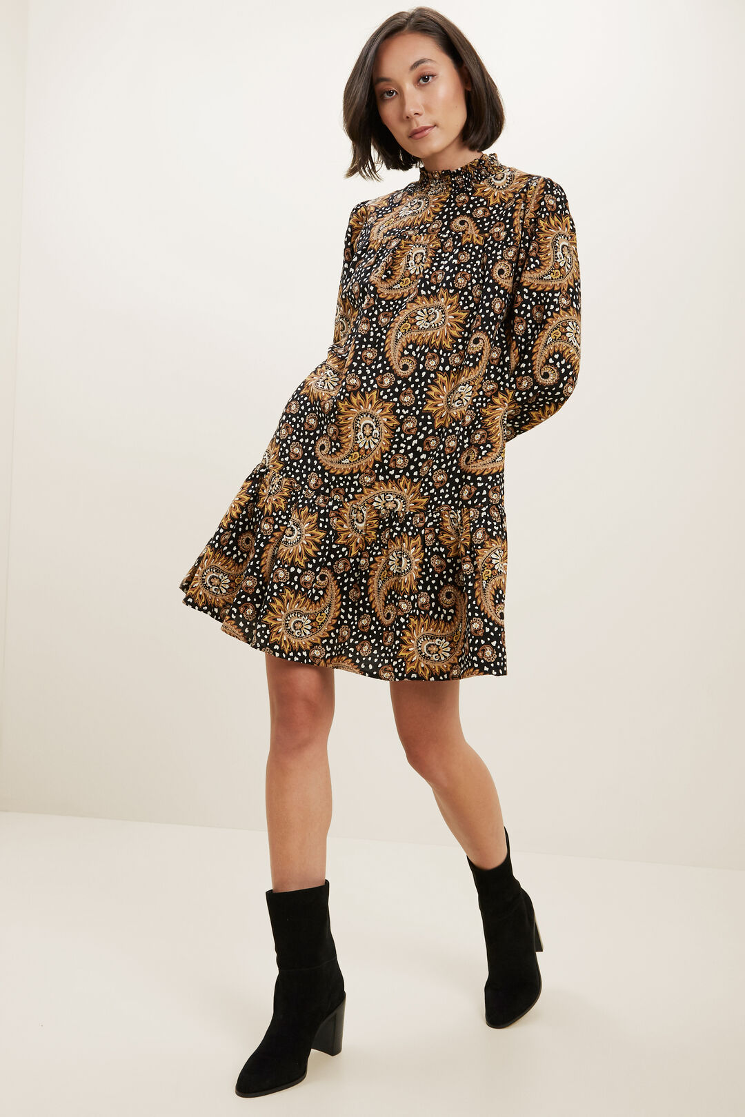 Paisley Mini Dress  PAISLEY  hi-res